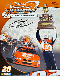 Tony Stewart 2002 NASCAR Winston Cup Champion Commemorative Poster - Time Factory