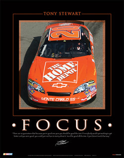 "Tony Stewart ""Focus"" NASCAR Racing Poster - Time Factory 2006"