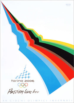 Torino Turin Italy 2006 Winter Olympic Games Official Poster Reproduction - Olympic Museum