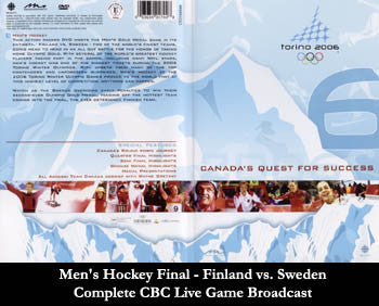 DVD: Torino 2006 Olympic Men's Hockey - Morningstar/CBC