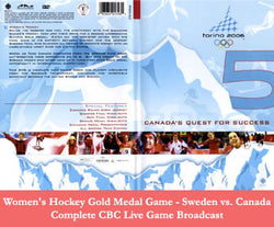 DVD: Torino 2006 Olympic WOMEN'S Hockey - Morningstar/CBC