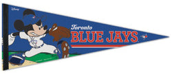 "Toronto Blue Jays ""Mickey Mouse Flamethrower"" Official MLB/Disney Premium Felt Pennant - Wincraft Inc."