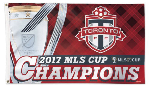 Toronto FC 2017 MLS CHAMPIONS Official Deluxe-Edition 3'x5' Banner FLAG - Wincraft Inc.