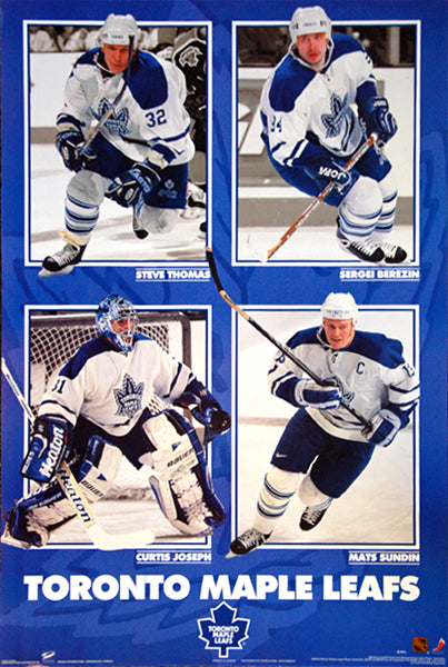 "Toronto Maple Leafs ""Four Stars"" (1999) Poster (Sundin, Joseph, Thomas, Berezin) - Trends International"