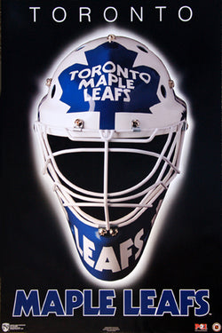 "Toronto Maple Leafs ""Classic Mask"" NHL Hockey Official Team Logo Theme Wall POSTER - Norman James 1994"
