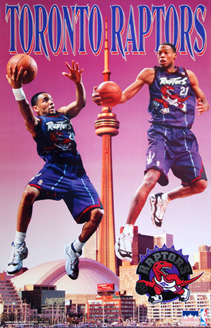 "Toronto Raptors ""Toronto Air"" (Damon Stoudemire, Marcus Camby) NBA Action Poster - Starline 1997"