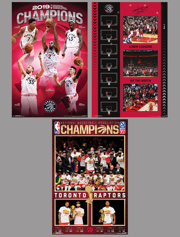 COMBO: Toronto Raptors 2019 NBA Basketball Champions Official 3-Poster Combo Set