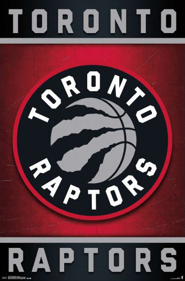 Toronto Raptors Official NBA Basketball Team Logo Poster - Trends International