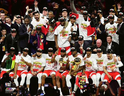 Toronto Raptors 2019 NBA Champions COURT CELEBRATION Premium 20x24 Poster Print - Photofile Inc.