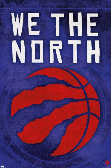 "Toronto Raptors Official NBA Basketball Team Logo ""We The North"" Poster - Trends 2021"