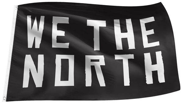"Toronto Raptors ""WE THE NORTH"" NBA Basketball 3'x5' Team Motto Banner FLAG - The Sports Vault"