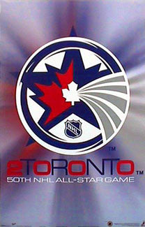 """Toronto 2000"" All-Star Logo Poster - T.I.L."