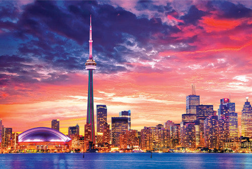 Toronto, Canada Skyline at Sunset Poster - Eurographics Inc.