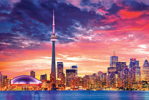 Toronto, Ontario, Canada Downtown Skyline at Sunset Poster - Eurographics Inc.
