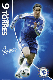 "Fernando Torres ""Signature Series"" (2011/12) Chelsea FC Poster - GB Eye"