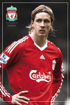 "Fernando Torres ""Intensity"" Liverpool FC Soccer Poster - GB Eye 2008"