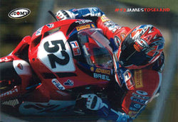 "James Toseland ""MotoGP Action"" Ducati Motorcycle Racing Poster - Suomy"