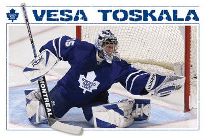 "Vesa Toskala ""Glove Save"" Toronto Maple Leafs Poster - Costacos 2008"