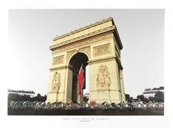 "100th Tour de France ""Arc de Triomphe Peloton"" Premium Cycling Poster Print - Graham Watson 2013"