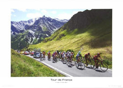 "Tour de France ""Colle dell Agnello"" Cycling Print - Graham Watson 2011"