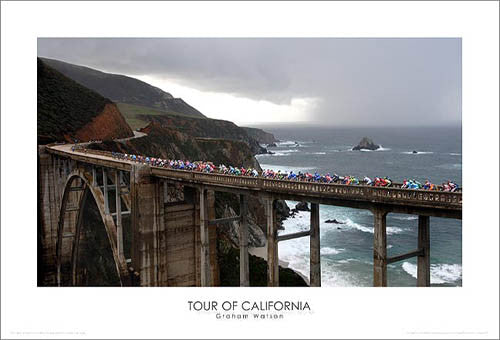 "Tour of California ""Pacific Peloton"" Premium Poster Print - Graham Watson 2007"