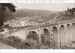 "Vintage Classics of the Tour de France ""Bridge at Dinan"" 1920s Cycling Poster Print - Presse 'e Sport"