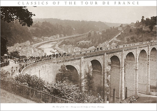 "Vintage Tour de France ""Bridge at Dinan"" (1920s) Cycling Poster - Presse 'e Sport"
