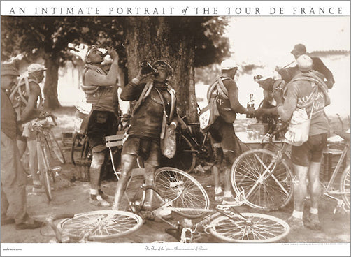 "Vintage Tour de France ""Scenes Reminiscent of Renoir"" (1920s Drinkers) Classic Cycling Poster Print - Press'e Sports"