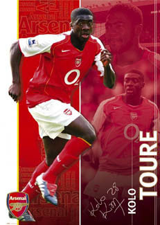 "Kolo Toure ""Signature"" Arsenal FC Poster - GB 2004"