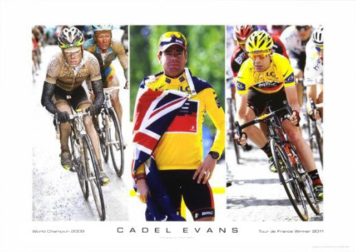"Cadel Evans ""Champion"" Commemorative Cycling Print - Graham Watson 2011"
