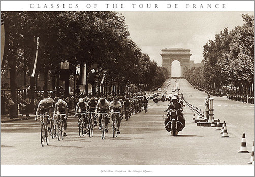 "Vintage Classics of the Tour de France ""1975 Tour Finish"" Cycling Poster Print - Presse 'e Sports"