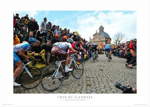 "Tour of Flanders ""Climbing the Muir"" Premium Poster Print - Graham Watson 2010"