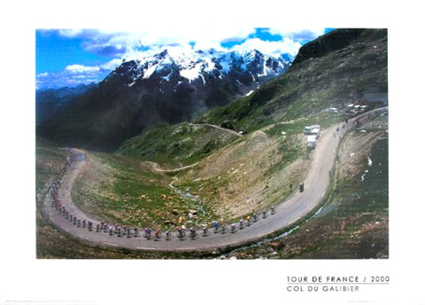 "Tour de France ""Col du Galibier"" Premium Cycling Poster Print - Graham Watson 2000"