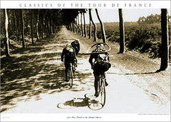 "Vintage Tour de France ""The Long Road Ahead"" Classic Cycling Poster Print - Presse 'e Sports"