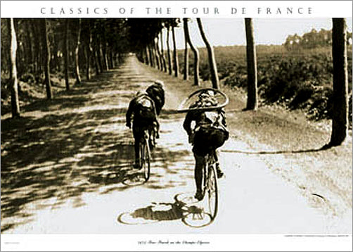 "Vintage Tour de France ""The Long Road Ahead"" Cycling Print - Presse 'e Sports"