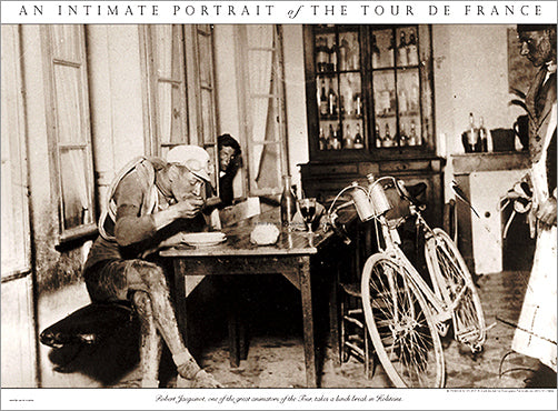 "Vintage Tour de France ""Lunch Break"" (1920s) Classic Cycling Poster Print - Presse 'e Sports"