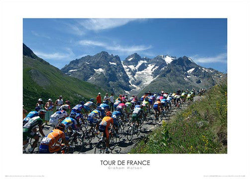"Tour de France ""By the Glacier"" Premium Poster Print - Graham Watson 2006"