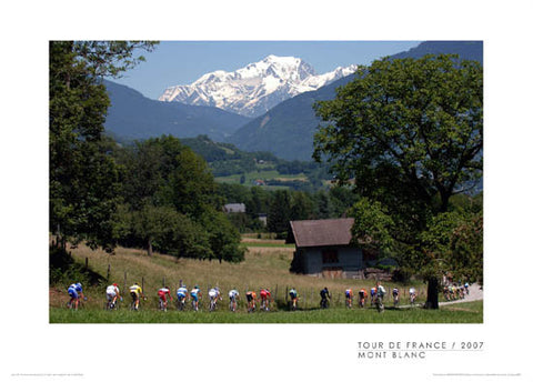 "Tour de France ""Mont Blanc"" Cycling Poster Print (2007) - Graham Watson"