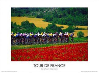 "Tour de France ""By the Poppies"" Premium Poster Print - Graham Watson"