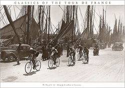 "Vintage Classics of the Tour de France ""Sailboats at Concarneau"" 1930s Cycling Poster - Press'e Sports"