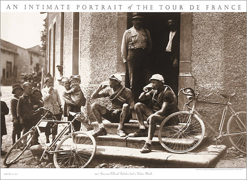 "Vintage Tour de France ""Swiss Racers"" (Beer Break) Cycling Poster Print - Presse 'e Sport"