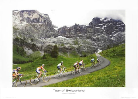 "Tour of Switzerland ""Climbing the Scheidegg"" Premium Poster Print - Graham Watson 2011"