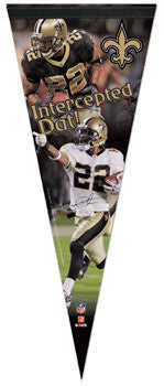 "Tracy Porter ""Intercepted Dat!"" Premium Collector's Pennant (LE /2010)"