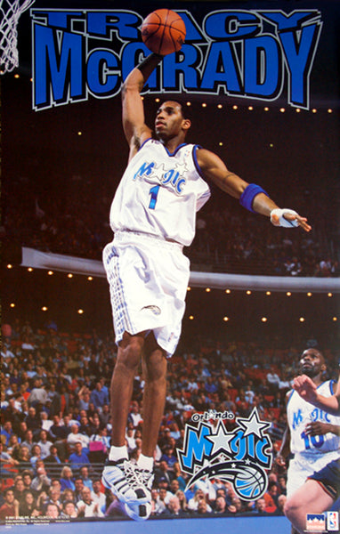 "Tracy McGrady ""Power Slam"" Orlando Magic NBA Basketball Action Poster - Starline 2001"