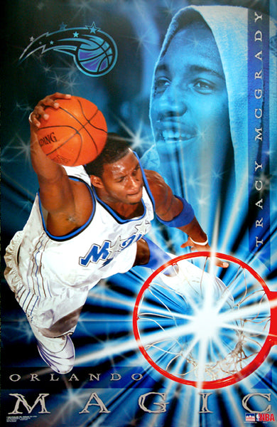 "Tracy McGrady ""Superstar"" Orlando Magic NBA Action Poster - Starline 2003"