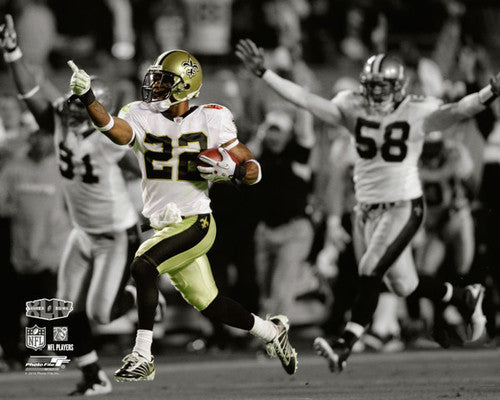 "Tracy Porter ""Pick Six"" (Super Bowl XLIV) New Orleans Saints Premium NFL Poster Print - Photofile"