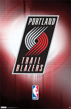 Portland Trailblazers Official NBA Team Logo Poster - Costacos Sports