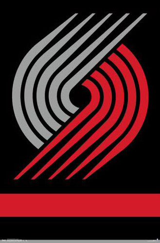 Portland Trail Blazers NBA Basketball Official Team Logo Poster - Trends International