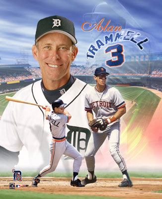 Alan Trammell Detroit Tigers Legend Premium Poster Print - Photofile