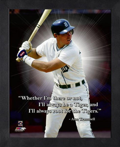 "Alan Trammell ""Always a Tiger"" Detroit Tigers FRAMED 16x20 PRO QUOTES PRINT - Photofile"